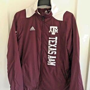 Texas A&M AGGIES Adidas Team ClimaProof Zip Jacket